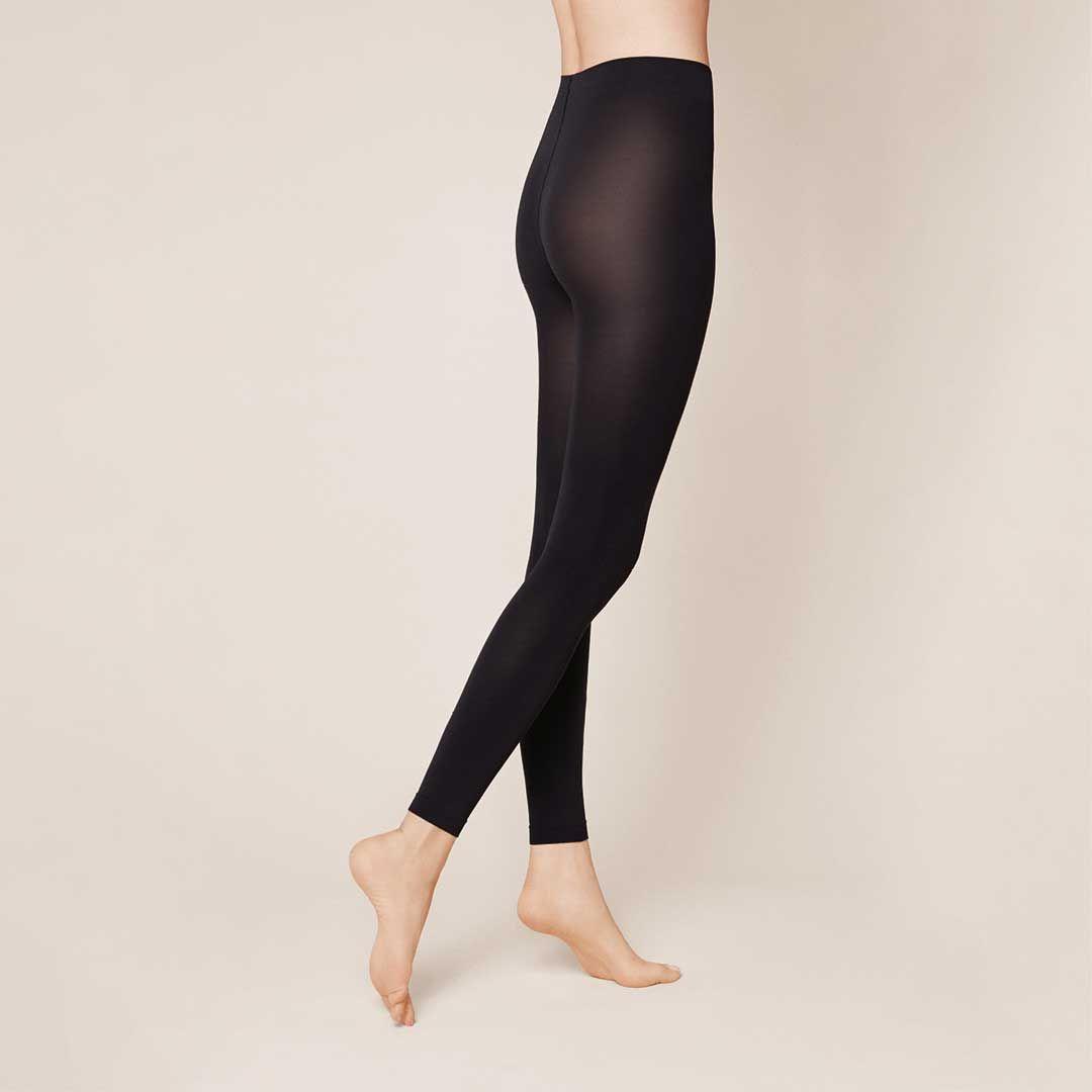 VELVET 80 Black (Schwarz) Blickdichte, elegante Leggings - KUNERT