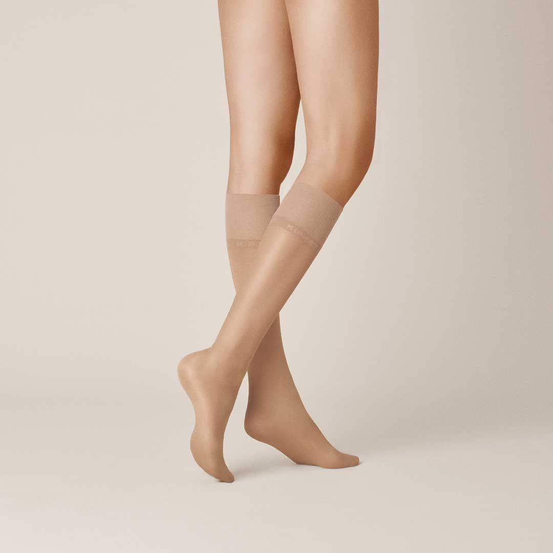 Satin Look 20 Limited Edition  Elegant glänzende Kniestrümpfe - erhältlich in den neuen KUNERT-Hauttönen! - KUNERT